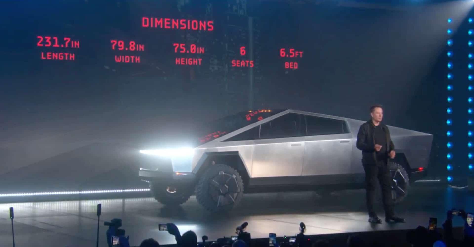 Tesla Cybertruck электромобиль