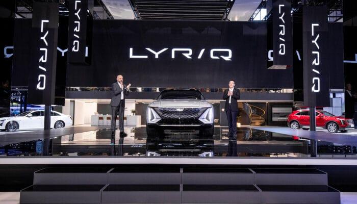 Премьера Cadillac Lyriq автосалон в Шанхае