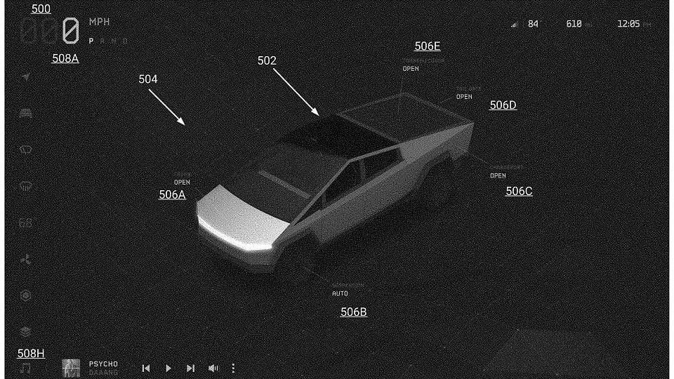 Патентная заявка на Tesla Cybertruck 2