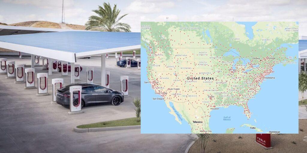 25000 зарядных устройств рекорд сети Tesla Supercharger