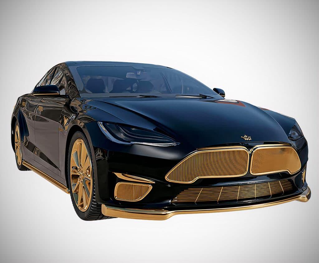 Tesla из золота (Caviar Model Excelence 24K)