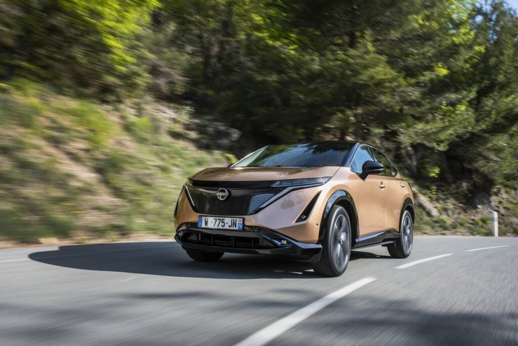 Nissan Ariya дебют электромобиля на трассе в Монако