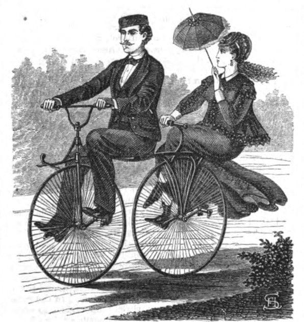 Велосипед для двоих ретро