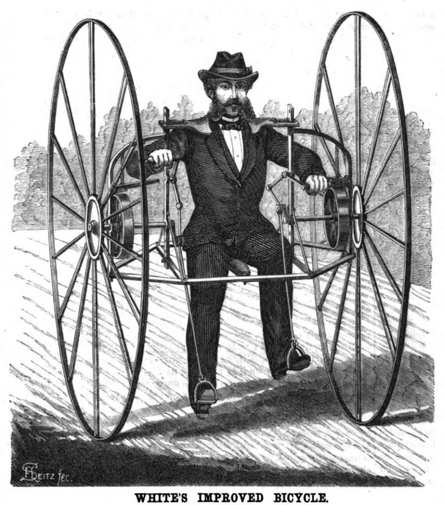 Улучшенный велосипед Уайта ретро