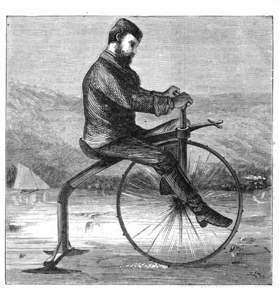 Велосипед для езды по льду ретро