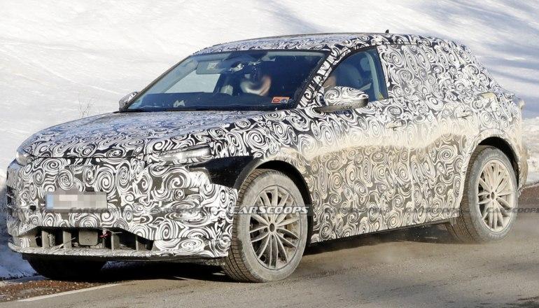 Электромобиль Audi Q6 E-Tron в камуфляже