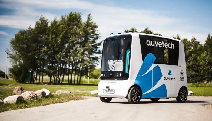 Беспилотный автобус на водороде в Эстонии Auve Tech