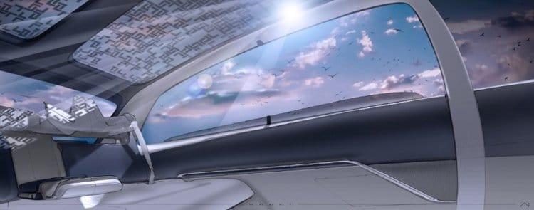Электромобиль Lincoln салон крыша
