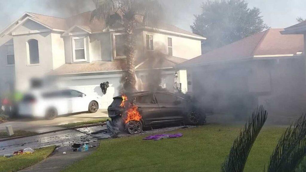 Chevrolet Bolt EV самовозгорания