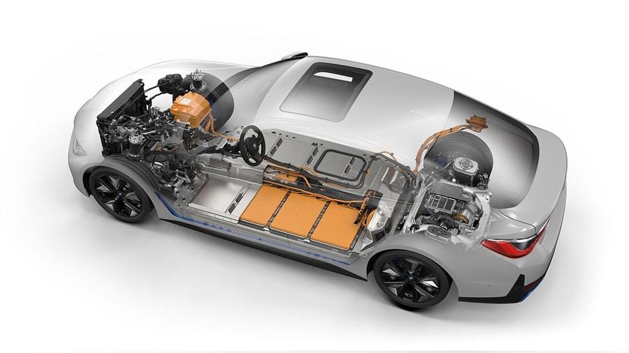 электромобиль BMW i4 строение силовой установки