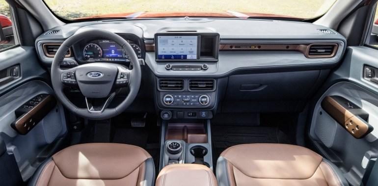 Пикап-гибрид Ford Maverick: интерьер
