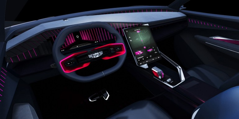 Концепт электромобиля Geely Vision Starburs интерьер