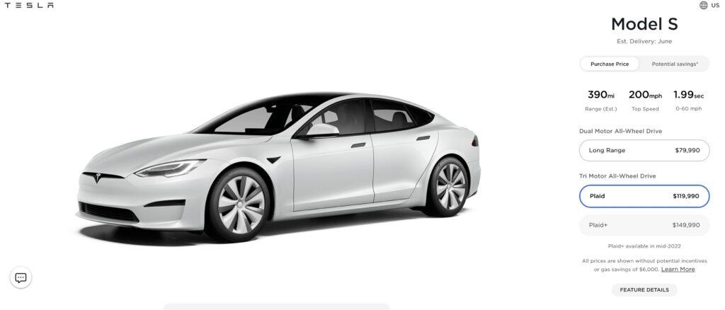 Выпуск Tesla Model S Plaid+ отменен