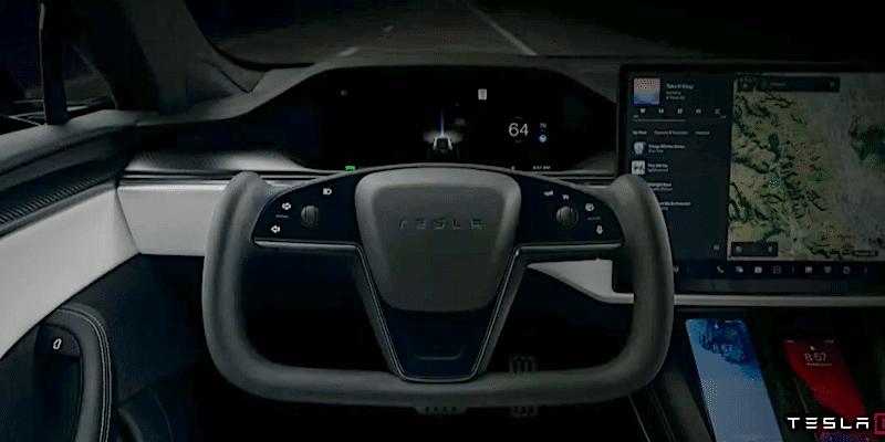 Tesla Model S Plaid штурвал