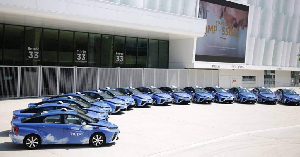 Toyota Mirai такси мадрид