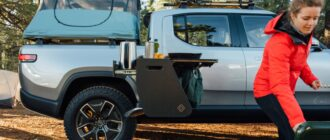 Электрический пикап Rivian R1T кемпер перенос поставок