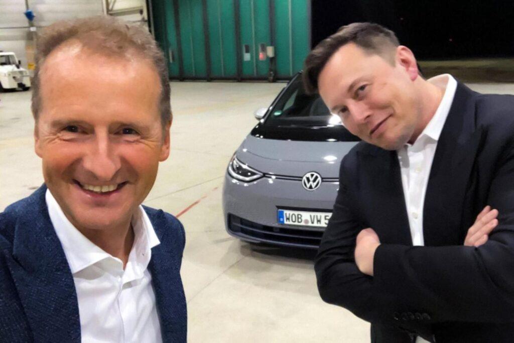Volkswagen ID.3. Илон Маск встреча с Гербертом Диссом по электромобилям