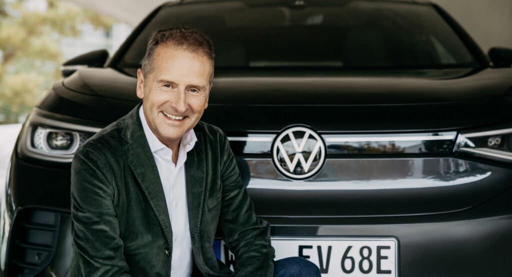 Новый электромобиль представил глава концерна Volkswagen Герберт Дисс