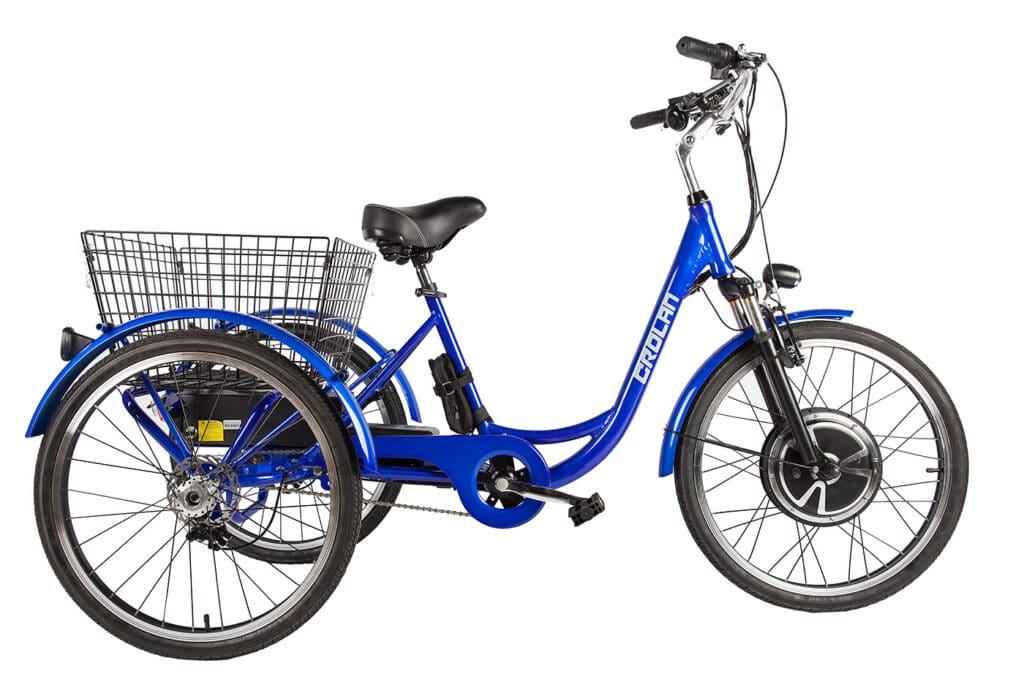 Трицикл Crolan 500W на аккумуляторах