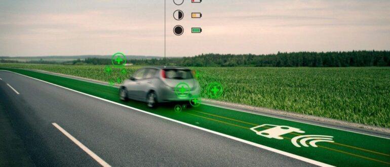 электромобили заряжающая дорога и аккумуляторы Tesla