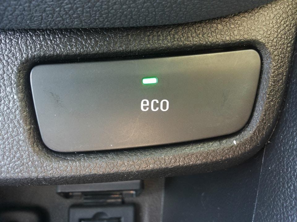 кнопка eco в электромобиле