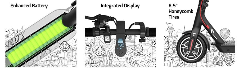 Электросамокат Swagtron Swagger 5 дисплей и батарея