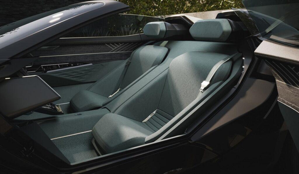 Электромобиль Audi Skysphere интерьер сидений