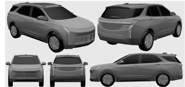 Патентные изображения электрокроссовера Chevrolet Equinox