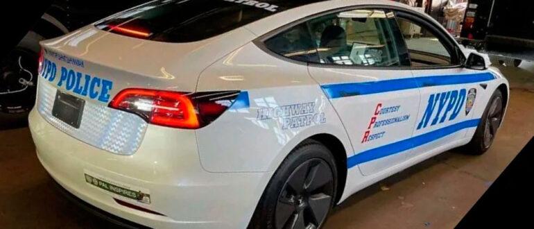 Патрульные электромобили Tesla Model 3 Уэстпорт (США)