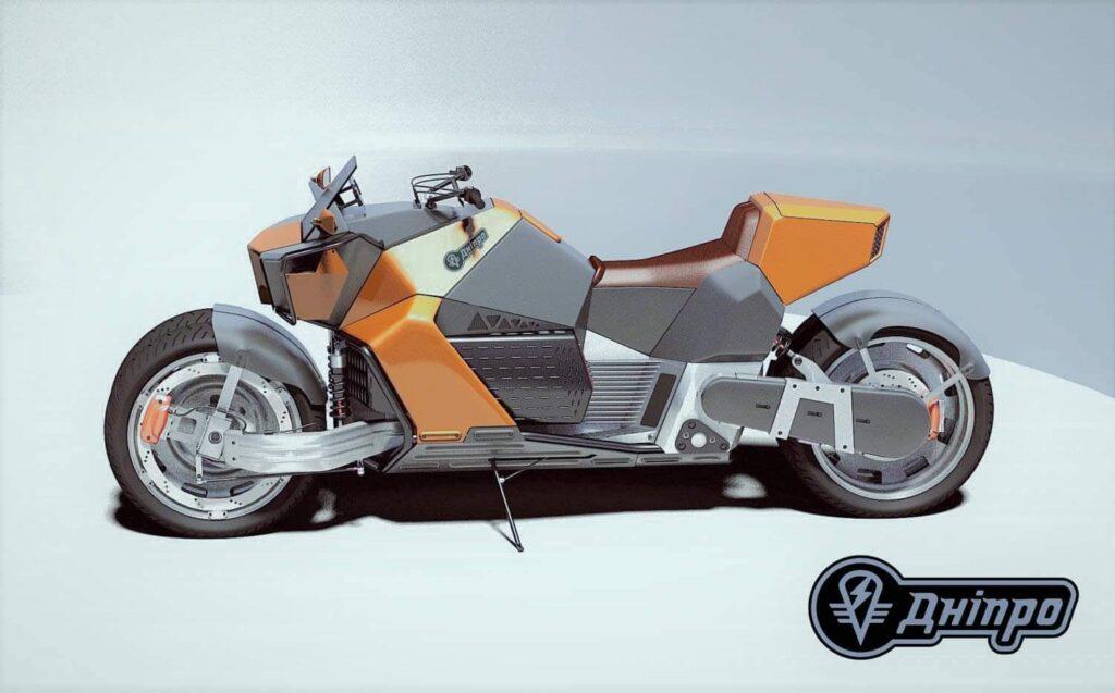 Фанатский дизайн электромотоцикла Днепр, Украина