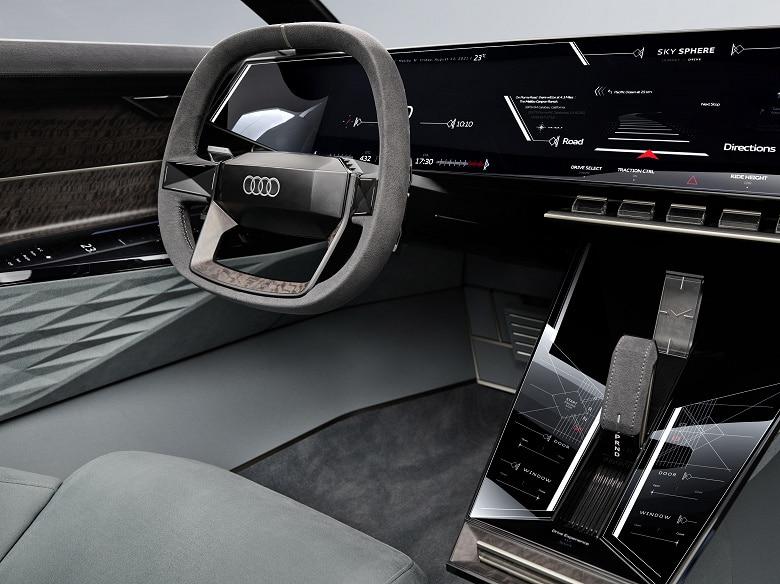 Audi Skysphere приборная панель интерьер