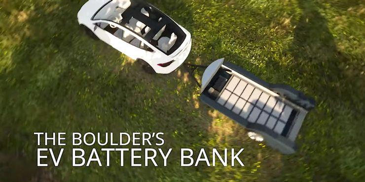 Boulder, кемпер с запасным аккумулятором для подзарядки электромобиляя