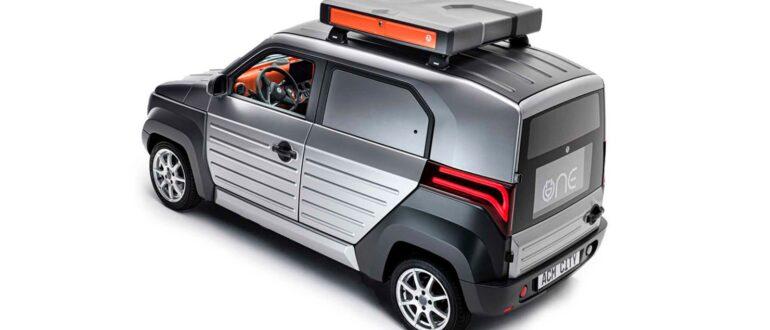City One электромобиль из Германии, батарея на крыше