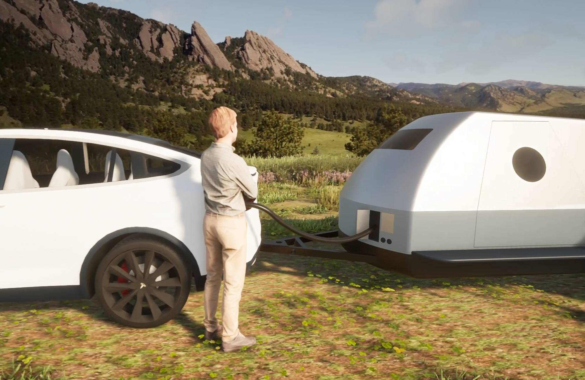 кемпер Boulder заряжает электромобили