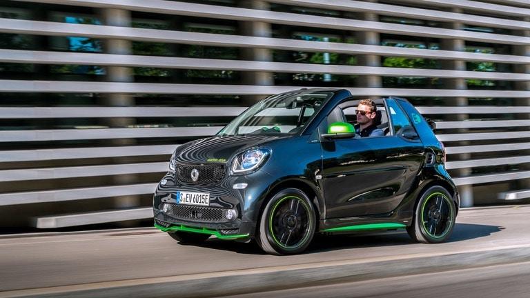 самые дешевые электромобили Smart EQ Fortwo