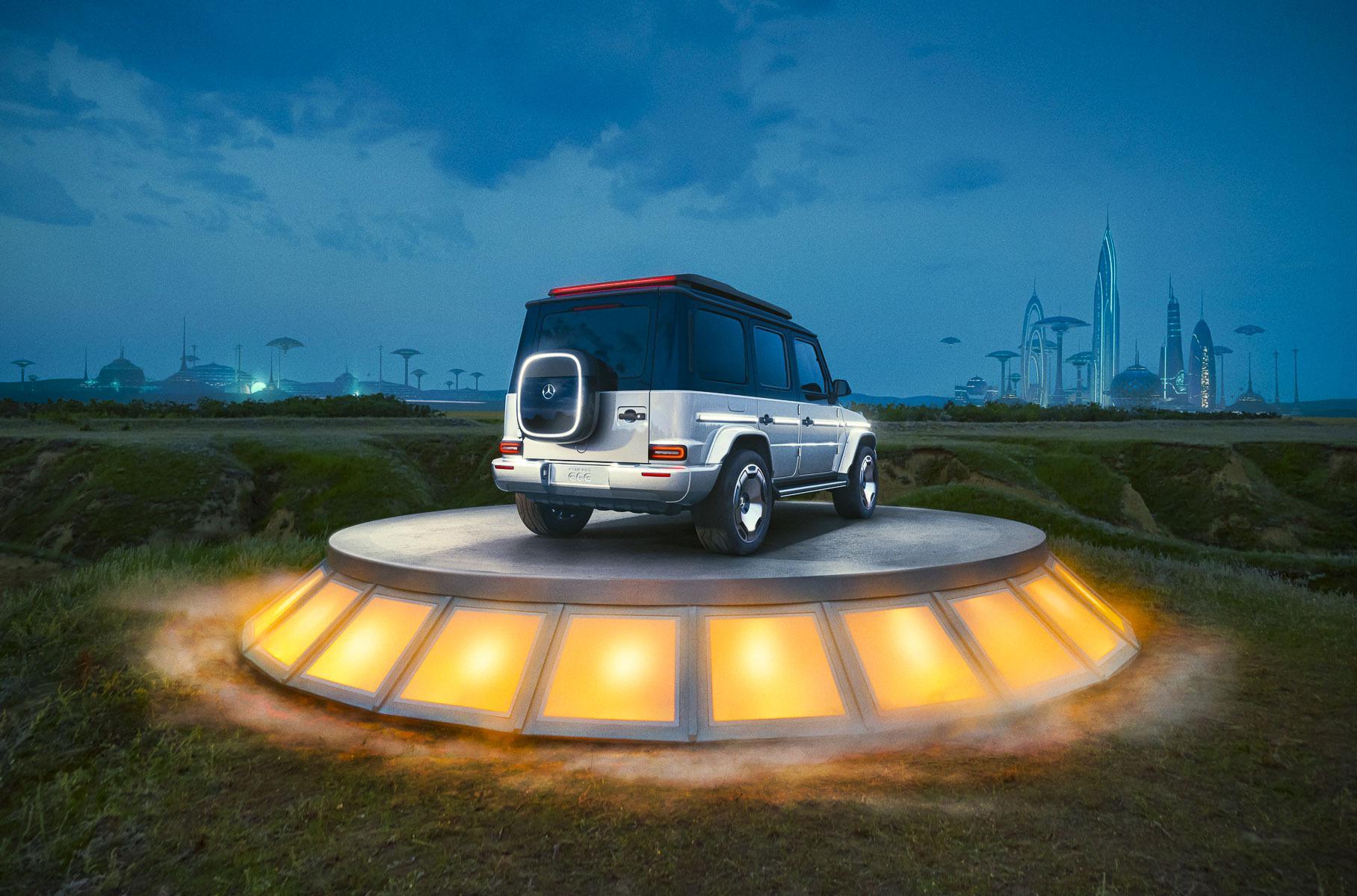 электромобиль G-Wagen