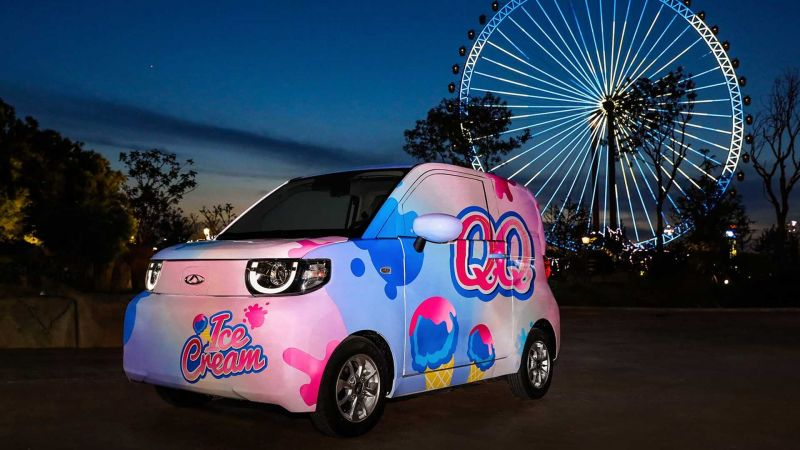 Электромобиль из Китая Chery QQ Ice Cream