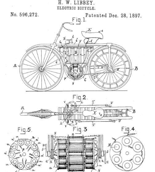 Патент на электровелосипед, Хосе У. Либбей