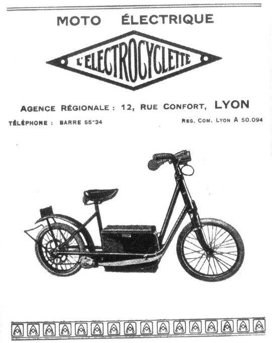 Велогибриды из Франции Electrocyclette