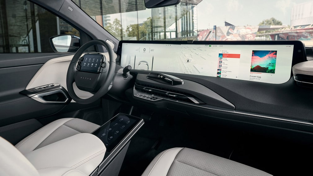 Byton M-Byte китайский электромобиль с самым большим дисплеем