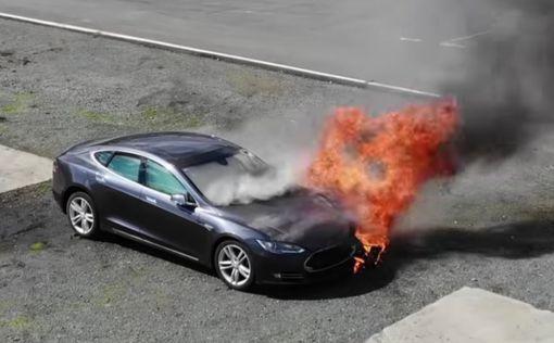 как часто пожары в электромобили Tesla