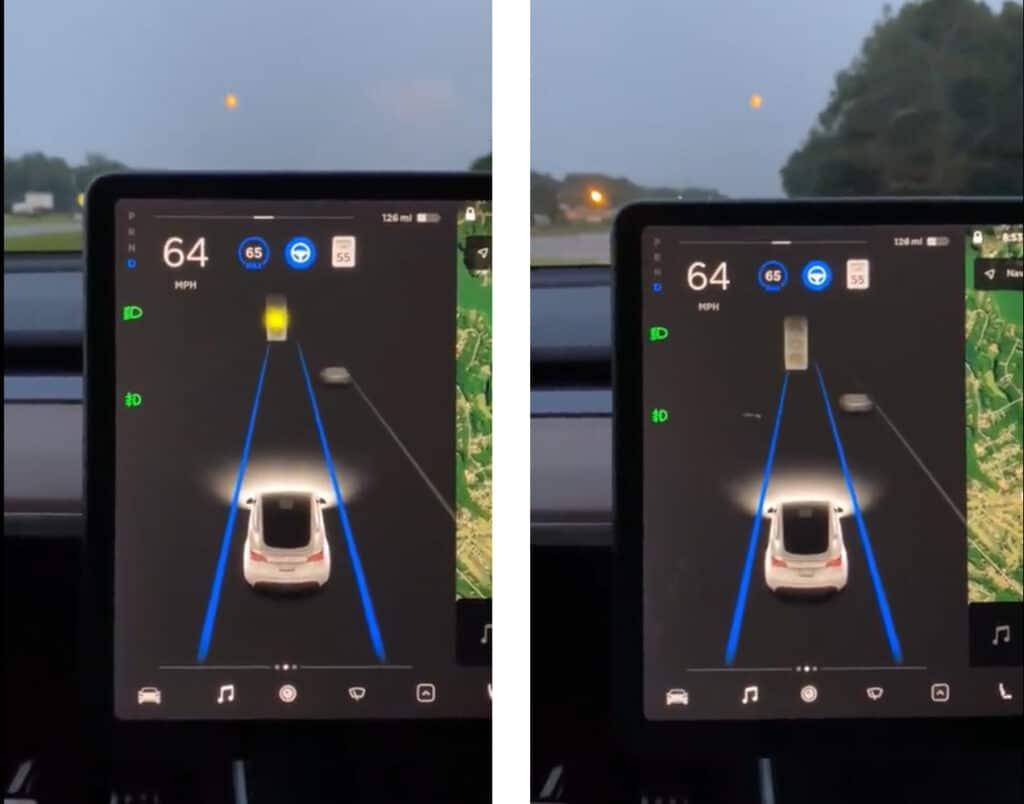 Tesla путает луну со светофором